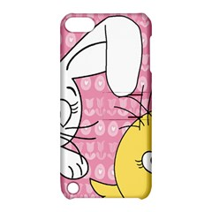 Easter Bunny And Chick  Apple Ipod Touch 5 Hardshell Case With Stand by Valentinaart