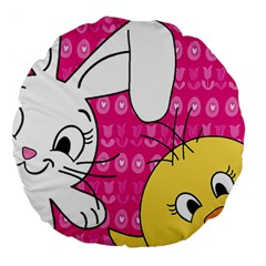 Easter Large 18  Premium Round Cushions by Valentinaart