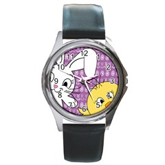 Easter Round Metal Watch by Valentinaart