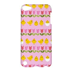 Easter   Chick And Tulips Apple Ipod Touch 5 Hardshell Case by Valentinaart