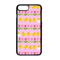 Easter   Chick And Tulips Apple Iphone 7 Plus Seamless Case (black)