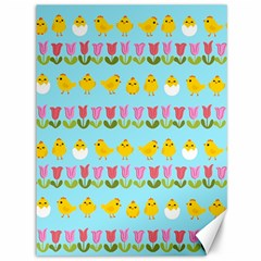 Easter   Chick And Tulips Canvas 36  X 48