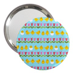 Easter   Chick And Tulips 3  Handbag Mirrors