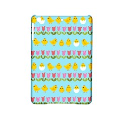 Easter   Chick And Tulips Ipad Mini 2 Hardshell Cases by Valentinaart