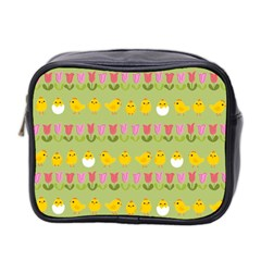 Easter   Chick And Tulips Mini Toiletries Bag 2 Side by Valentinaart