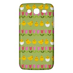 Easter   Chick And Tulips Samsung Galaxy Mega 5 8 I9152 Hardshell Case  by Valentinaart