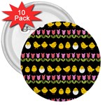 Easter - chick and tulips 3  Buttons (10 pack)  Front