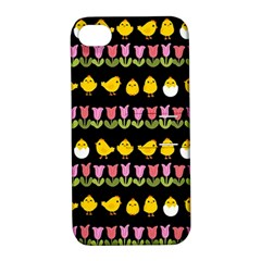 Easter   Chick And Tulips Apple Iphone 4/4s Hardshell Case With Stand
