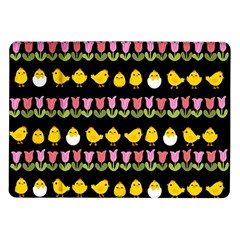 Easter   Chick And Tulips Samsung Galaxy Tab 10 1  P7500 Flip Case by Valentinaart