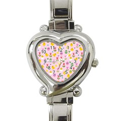 Easter   Chick And Tulips Heart Italian Charm Watch by Valentinaart