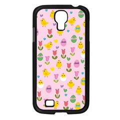 Easter   Chick And Tulips Samsung Galaxy S4 I9500/ I9505 Case (black)