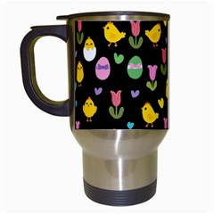 Easter   Chick And Tulips Travel Mugs (white) by Valentinaart