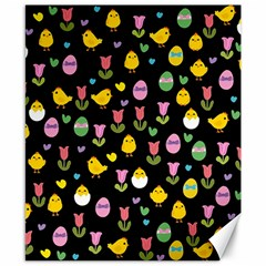 Easter   Chick And Tulips Canvas 8  X 10