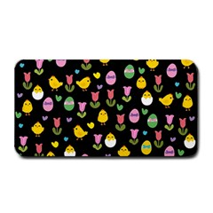 Easter   Chick And Tulips Medium Bar Mats by Valentinaart