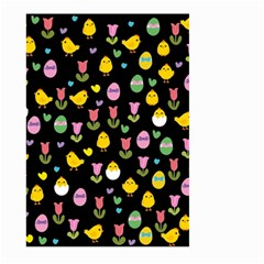 Easter   Chick And Tulips Large Garden Flag (two Sides) by Valentinaart