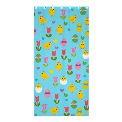 Easter   Chick And Tulips Shower Curtain 36  X 72  (stall)  by Valentinaart