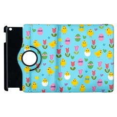 Easter   Chick And Tulips Apple Ipad 2 Flip 360 Case by Valentinaart