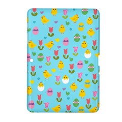 Easter   Chick And Tulips Samsung Galaxy Tab 2 (10 1 ) P5100 Hardshell Case  by Valentinaart