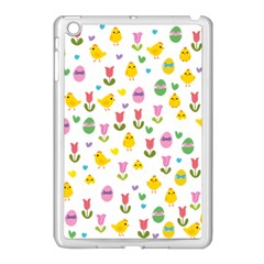 Easter   Chick And Tulips Apple Ipad Mini Case (white)