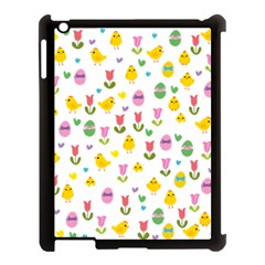 Easter   Chick And Tulips Apple Ipad 3/4 Case (black) by Valentinaart