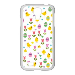 Easter   Chick And Tulips Samsung Galaxy S4 I9500/ I9505 Case (white) by Valentinaart