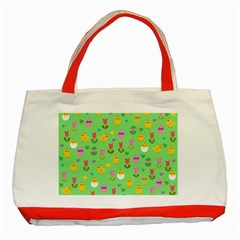Easter   Chick And Tulips Classic Tote Bag (red) by Valentinaart