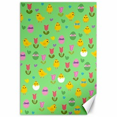 Easter   Chick And Tulips Canvas 20  X 30