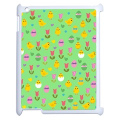 Easter   Chick And Tulips Apple Ipad 2 Case (white) by Valentinaart