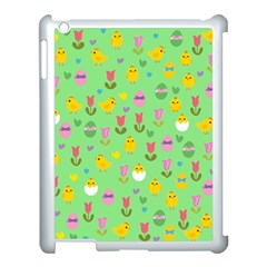 Easter   Chick And Tulips Apple Ipad 3/4 Case (white) by Valentinaart