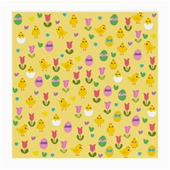 Easter   Chick And Tulips Medium Glasses Cloth (2 Side)