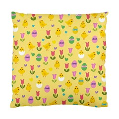 Easter   Chick And Tulips Standard Cushion Case (one Side) by Valentinaart
