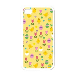 Easter   Chick And Tulips Apple Iphone 4 Case (white) by Valentinaart