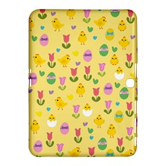 Easter   Chick And Tulips Samsung Galaxy Tab 4 (10 1 ) Hardshell Case  by Valentinaart