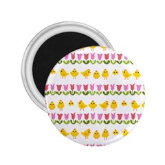 Easter   Chick And Tulips 2 25  Magnets