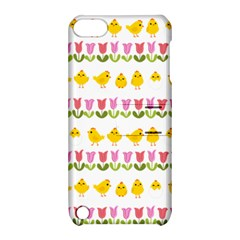 Easter   Chick And Tulips Apple Ipod Touch 5 Hardshell Case With Stand