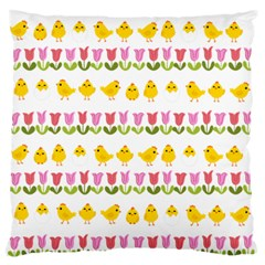 Easter   Chick And Tulips Standard Flano Cushion Case (one Side)