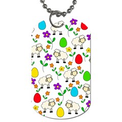 Easter Lamb Dog Tag (one Side) by Valentinaart