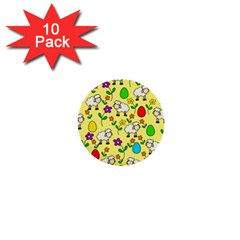 Easter Lamb 1  Mini Buttons (10 Pack)