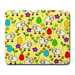 Easter Lamb Large Mousepads by Valentinaart