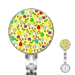 Easter Lamb Stainless Steel Nurses Watch by Valentinaart