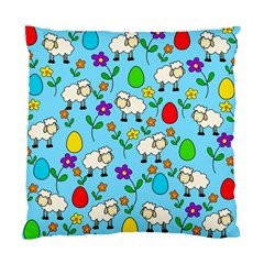 Easter Lamb Standard Cushion Case (one Side) by Valentinaart
