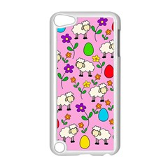 Easter Lamb Apple Ipod Touch 5 Case (white) by Valentinaart