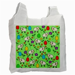 Easter Lamb Recycle Bag (one Side) by Valentinaart