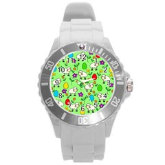 Easter Lamb Round Plastic Sport Watch (l) by Valentinaart