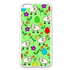 Easter Lamb Apple Iphone 6 Plus/6s Plus Enamel White Case by Valentinaart