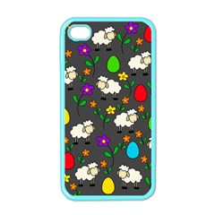 Easter Lamb Apple Iphone 4 Case (color) by Valentinaart