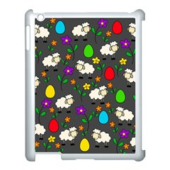 Easter Lamb Apple Ipad 3/4 Case (white) by Valentinaart