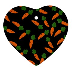 Carrot Pattern Heart Ornament (two Sides) by Valentinaart