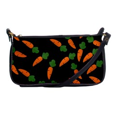 Carrot Pattern Shoulder Clutch Bags by Valentinaart