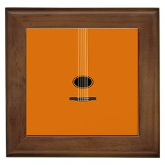 Minimalism Art Simple Guitar Framed Tiles by Mariart